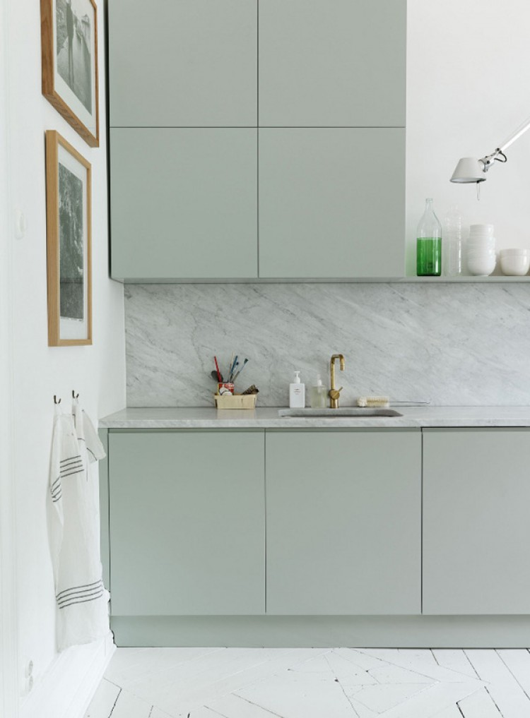 Trend marmor eget rom for Scandinavian kitchen backsplash