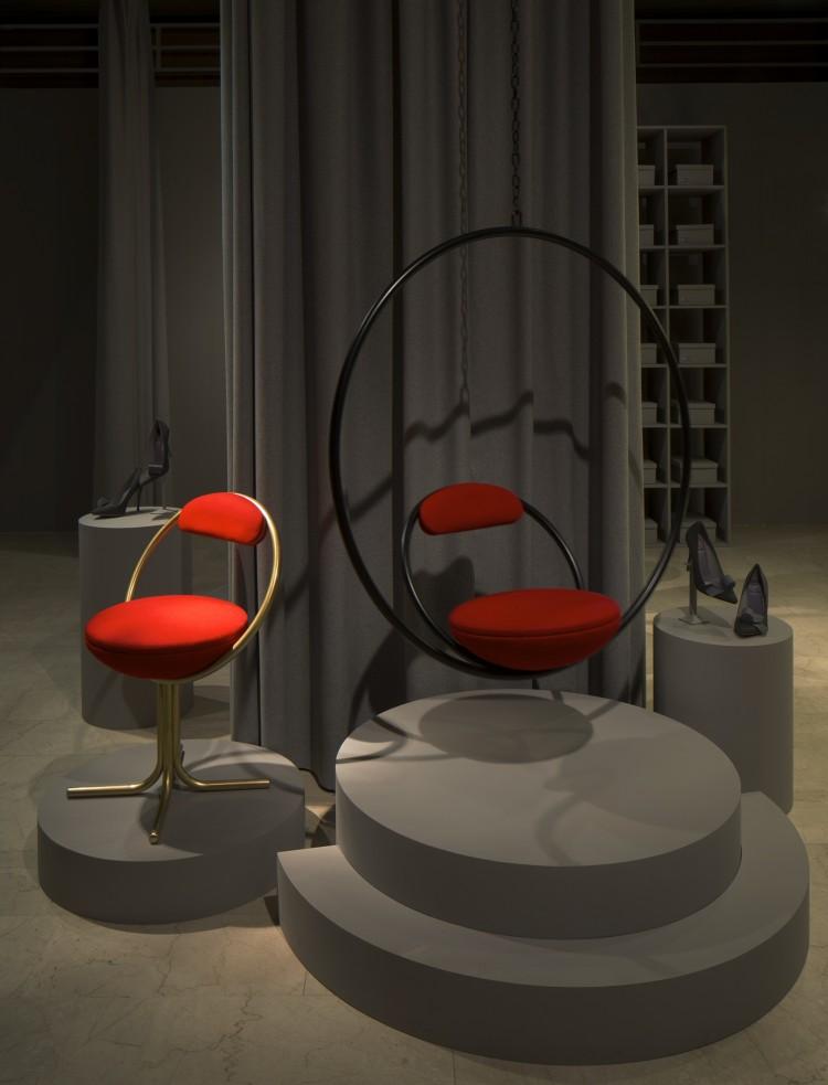 Shoe Dept_Hoop Hanging and Hoop Dining Chairs